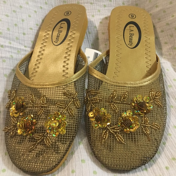 3f1d09f2e33 Asian Sequined Slippers